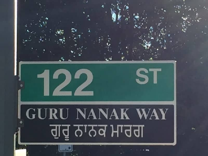 Surrey Auto Mall >> Gurdwaras' road signs in Surrey at 122A Street and 86th Avenue put up again | Indo-Canadian Voice