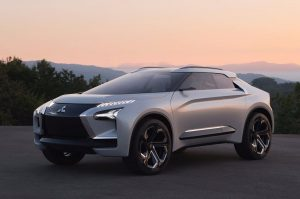 mitsubishi goes fully electric with e-evolution concept suv | indo
