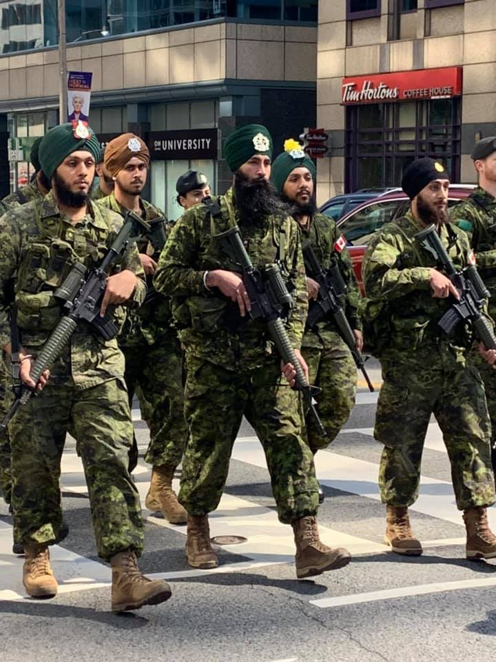 Controversy over gun-carrying soldiers – including turbaned Sikhs