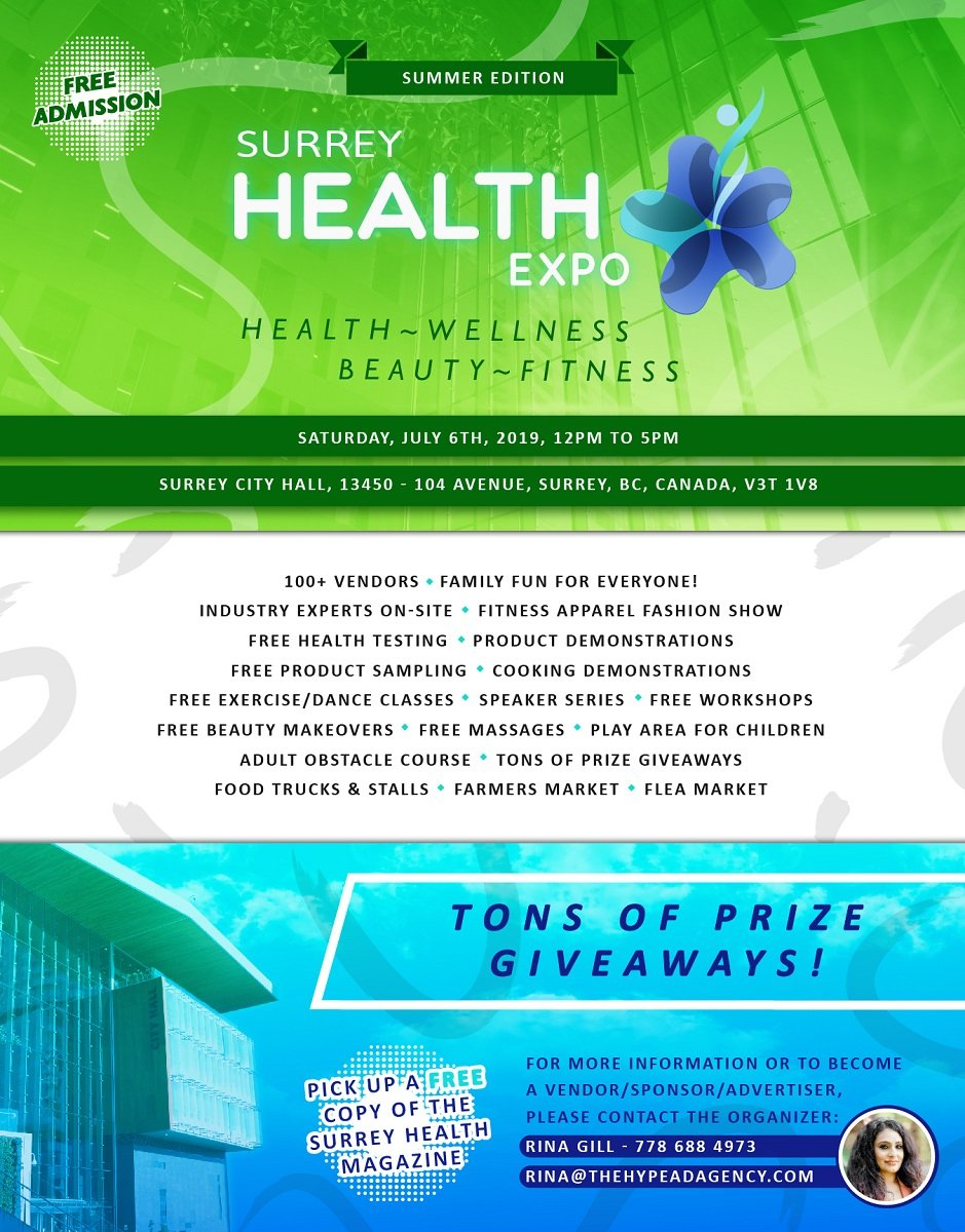 Surrey Health Expo: 3rd annual mainstream tradeshow focusing on